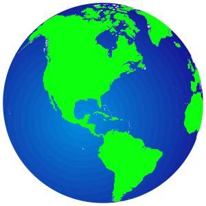 Globe - blue & green