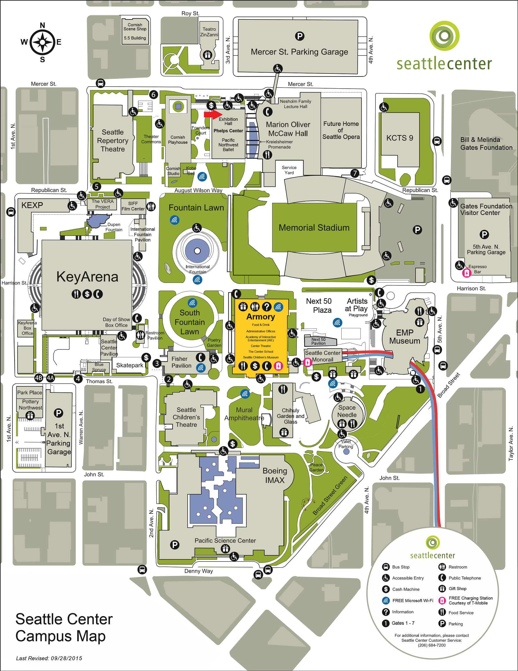 seattle center map