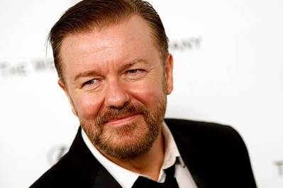 Actor Ricky Gervais arrives at the Weinstein Netflix after party after the 72nd annual Golden Globe Awards in Beverly Hills