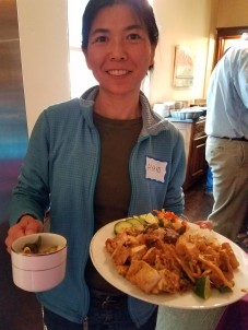 Ayako with plate - cropped