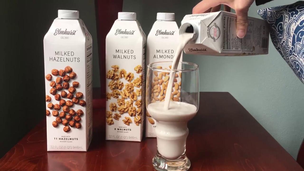 Elmhurst nut milks