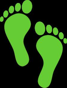 Footprints - green